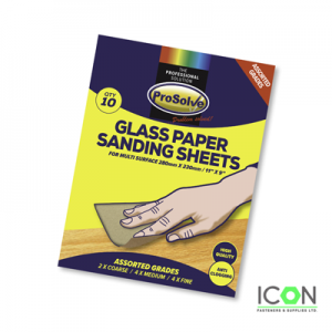 glass sanding paper