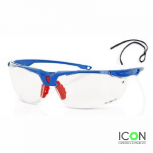 clear sports style safety specs
